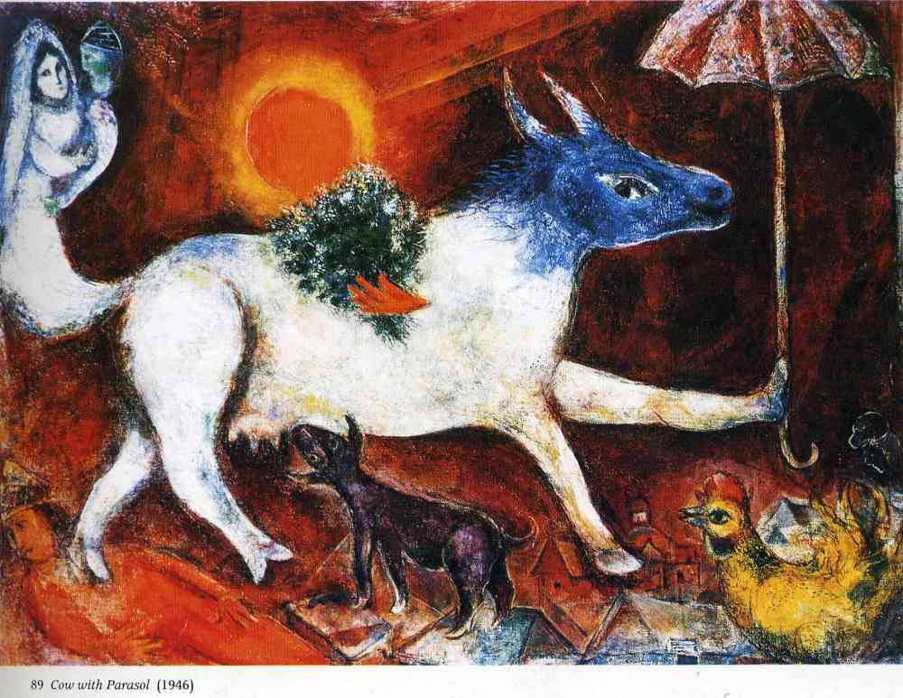 cow-with-parasol-1946-marc chagall- milan