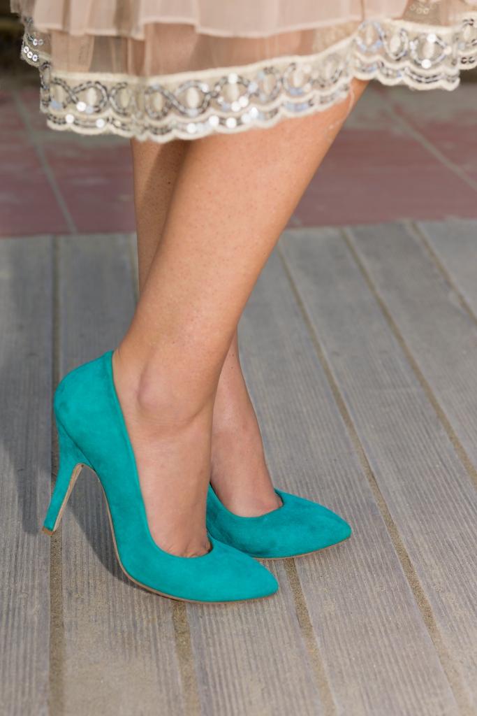 aqua blue colorful pumps shoes