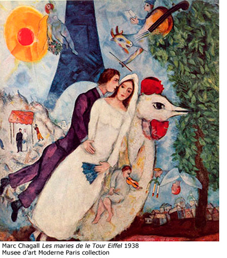 Marc-Chagall-Les-maries-de-le-Tour-Eiffel-1938-Musee-National-d'art-moderne-Paris-coll
