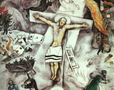 marc chagall white christ papa francesco