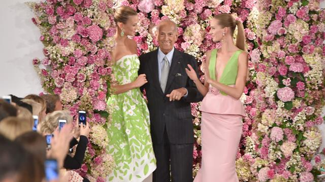 Oscar de la Renta last runway show with Karlie Kloss