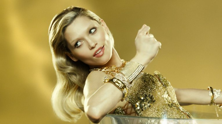 parfum paco rabanne lady million my gold with Czech supermodel, Hana Jirickova