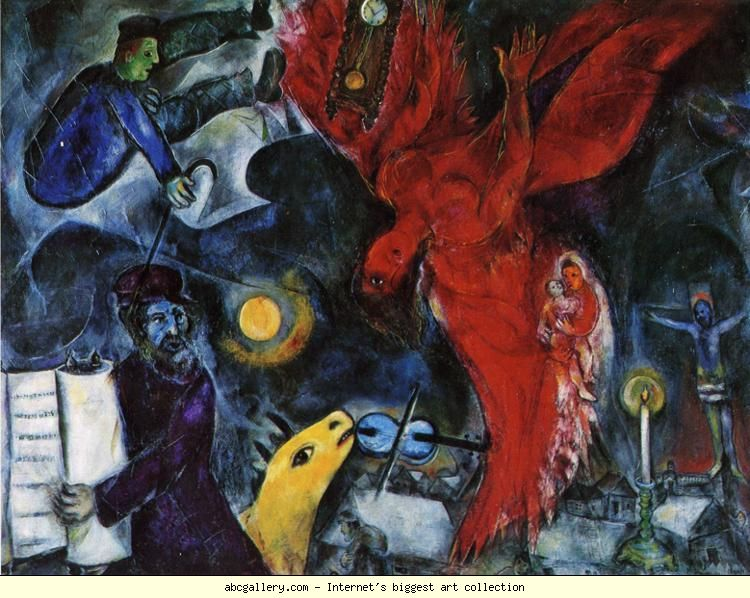 the falling angel by marc chagall