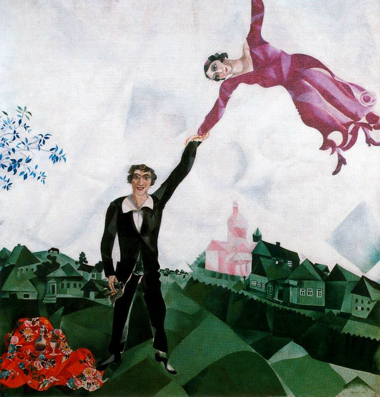 the-promenade by marc chagall
