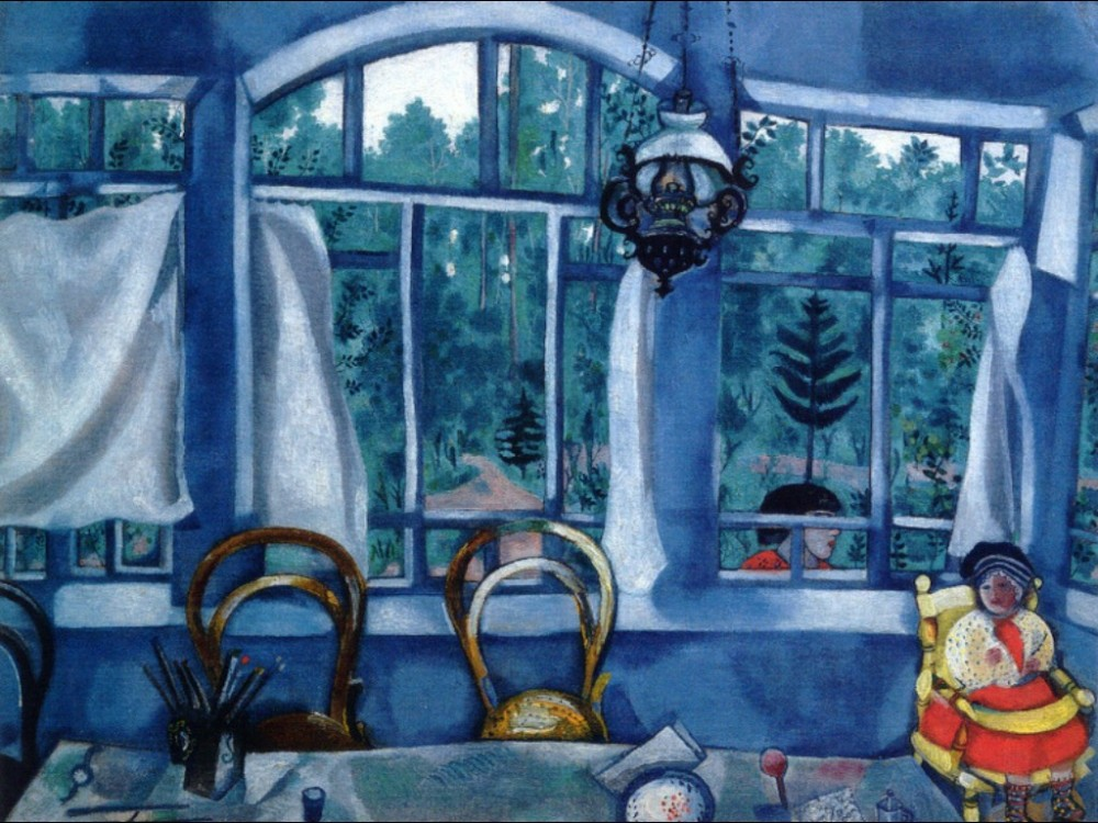 window-over-a-garden-marc chagall- painting