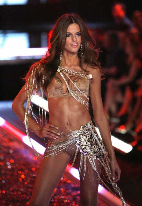 Victoria's Secret model Goulart walks the runway at the Victoria's Secret fashion show in Hollywood