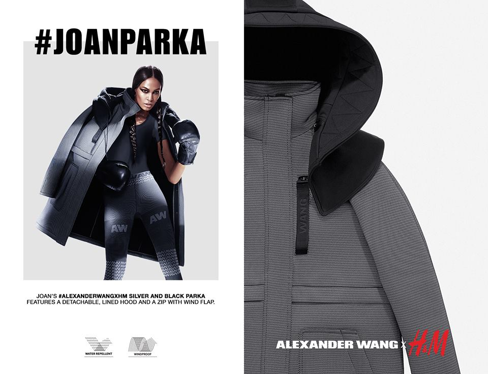 Joan small parka by alexander wang at hnm