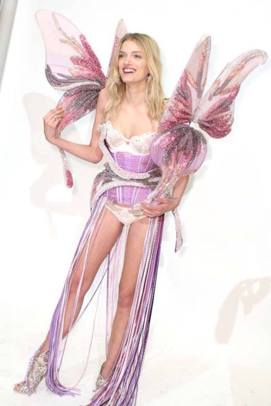 lily donaldson costume for victoria secret 2014 london show