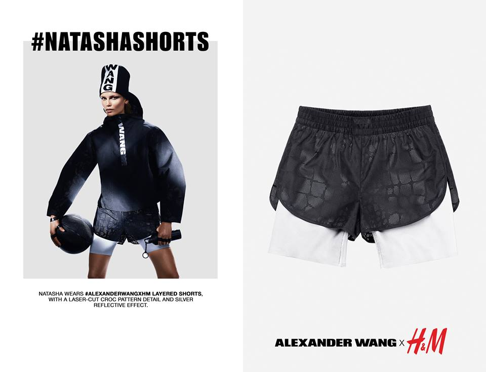 Natasha Poly short HnM with Alexander Wang