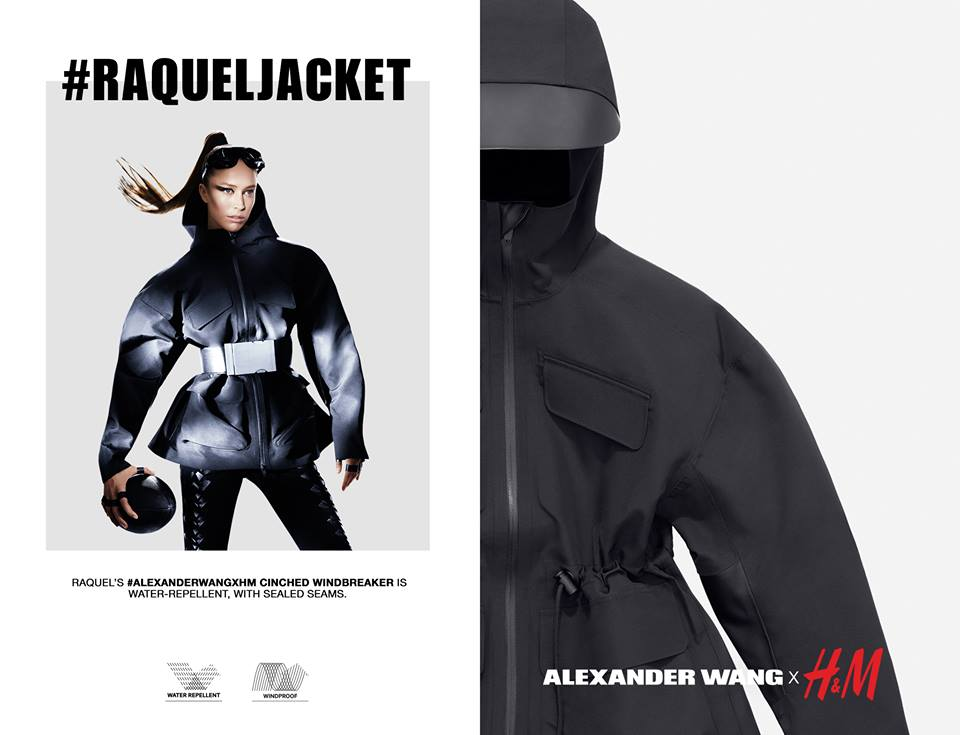 raquel zimmermann jacket by alexander wang for hnm