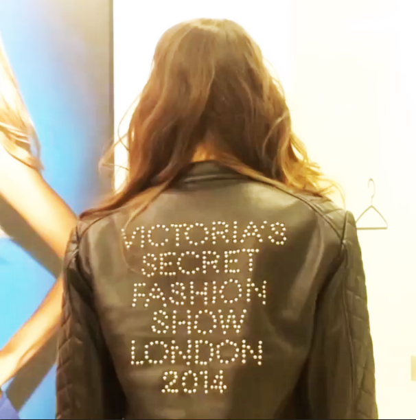 Victoria Secret Fashion Show 2014 in London Leather Jacket