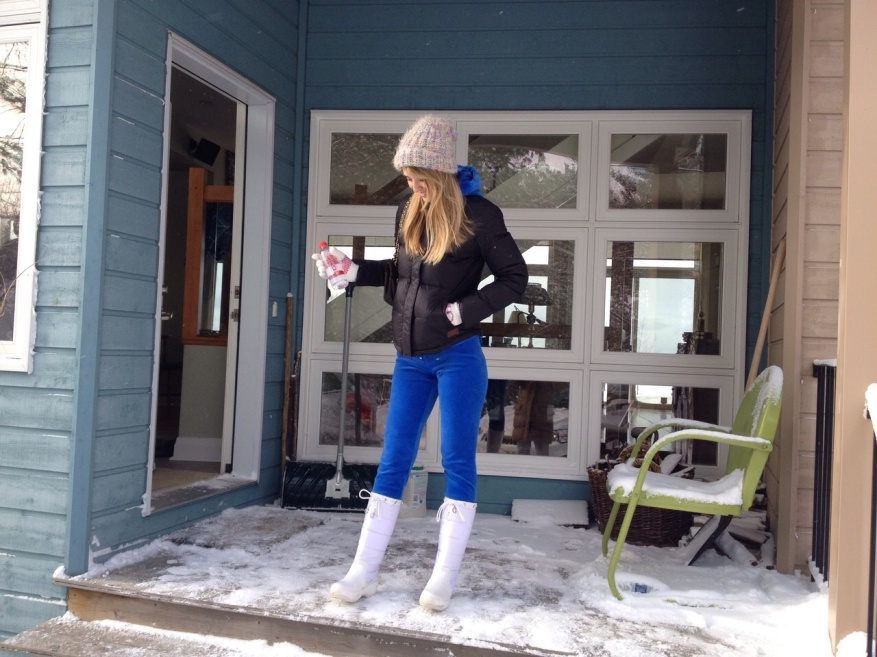 winter juicy couture blue track suit at the cottage.jpg