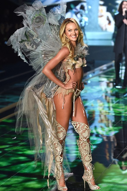 Candice Swanepoel for 2014 VS fashion show in london fairy tale