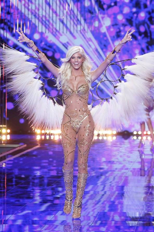 devon windsor for VS 2014 london show gilded angels