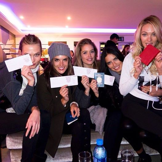 vs secret models with passpors flying to london