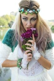 fashion headshot bride hippy
